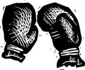 Vector Illustration of Boxing Gloves — Vector de stock