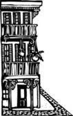 Vector Illustration of Bourbon Street — Stock Vector
