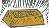 Illustrazione di xilografia di lingotti — Vettoriale Stock