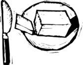 Vector Illustration of Butter — Stock Vector