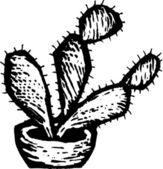 Prickly Pear Cactus — Stock Vector