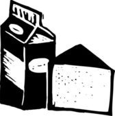 Woodcut illustration of Calcium — Stock Vector