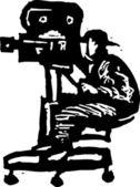 Vector Illustration of Cameraman — Stock Vector