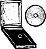 Vector Illustration of CD — Stock Vector