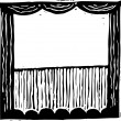 Vector Illustration of Curtain Time — Stock Vector