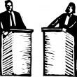 Stock Vector: Vector Illustration of Political Debate