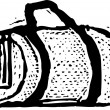 Vector Illustration of Duffel Bag — Stockvektor