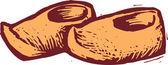 ксилография иллюстрация голландских сабо — Cтоковый вектор