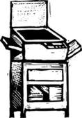 Vector Illustration of Copier — Stock Vector