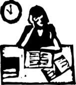 Vector illustration of Cramming — Stock Vector