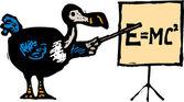 Woodcut illustration of Dodo Bird — Stock Vector