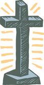 ксилография иллюстрация крест — Cтоковый вектор