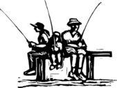 Vector illustration of Catchin' Dinner — Stock Vector