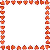 Woodcut Illustration of Valentine Heart — Stock Vector