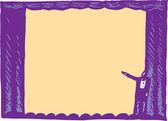 Träsnitt illustration av teater scenen — Stockvektor
