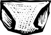 Vector Illustration of Diaper — Stock Vector