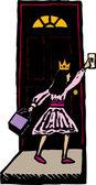 蒲公英的木刻插图 — 图库矢量图片