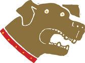 Woodcut Illustration of Dog — Stock Vector