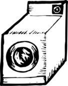 Woodcut Illustration of Dryer — Stock Vector