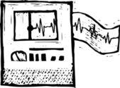 Vector Illustration of EKG — Wektor stockowy