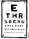 Vector Illustration of Eye Chart — Stok Vektör