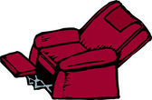 Woodcut Illustration of Easy Chair — Stock Vector