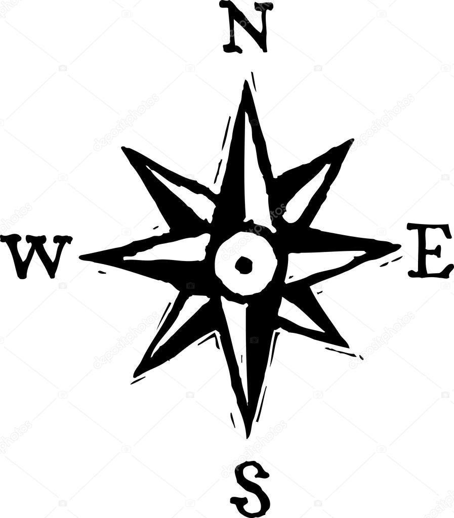 vector illustration der nord ost s d west stockvektor ronjoe 29515297. Black Bedroom Furniture Sets. Home Design Ideas