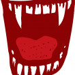 Vampire Fangs or Teeth — Stock Vector