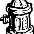 Cтоковый вектор: Vector Illustration of Fire Hydrant