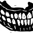Vettoriale Stock : Woodcut Illustration of False Teeth