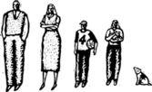 Vector Illustration of Family — Stock Vector