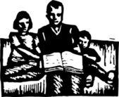 Vector Illustration of Family Hour — Vector de stock