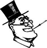 Vector Illustration of Franklin Delano Roosevelt — Stock Vector