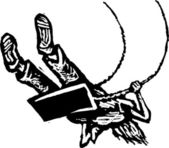 Träsnitt illustration av kid svängande på swing set — Stockvektor