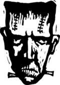 Woodcut Illustration of Frankenstein — Stock Vector