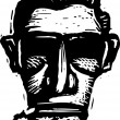 Woodcut Illustration of Generation X Man's Face — Imagen vectorial