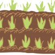 Stock Vector: Woodcut Illustration of Garden Seedlings