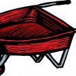 Woodcut Illustration of Wheelbarrow — Stock Vector #29563733