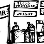 Woodcut Illustration of Health Fair — Stock Vector #29563971