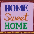 Vector illustration of Home sweet home sign — Stock Vector
