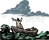 Ilustração em xilogravura da galiléia — Vetorial Stock