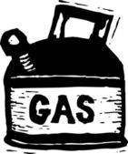 Woodcut Illustration of Gas Can — Stock Vector