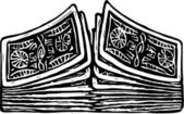 Vector illustration of shuffling cards — Stock Vector