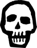 Icona di illustrazione xilografia di ghoul — Vettoriale Stock