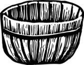 Drzeworyt ilustracja korcem — Wektor stockowy
