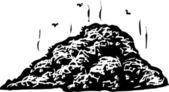 Ксилография Иллюстрация компоста — Cтоковый вектор
