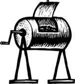 Illustrazione di xilografia della compostiera — Vettoriale Stock