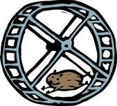 Woodcut illustration of Hamster — Stock Vector