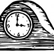 Stok Vektör: Illustration of Clock