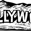 Hollywood-Schild — Stockvektor